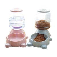 Hundeschüsseln Feeder Große Spender Auto Food Container Kunststoff Automatische Welpen-Feeder Bowl Pet Kit Gamelle Chien Cat Trinkbrunnen KK60