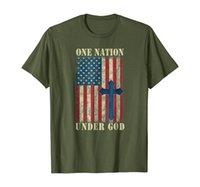 USA Christian Patriot Tshirt Eine Nation unter Gottes Hemd