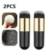 Pcs Black Chubby Pier Foundation Brush Flat Cream Makeup Bru...