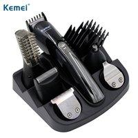 100-240V kemei 전기 면도기 전기 면도기 수염 면도기 머리 트리머 헤어 클리퍼 남자 면도 기계 코 머리 절단 210326