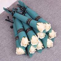 Enkele stam kunstmatige rose romantische valentijn dag bruiloft verjaardagspartij zeep rose bloem rood roze blauw 1335 v2