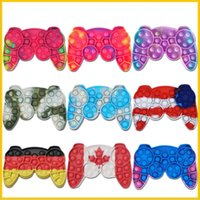 Fidget Toy National Flag Pad Game Controller Party favor Push Bubble Fidgets Hand Shank Games Controllers Finger Decompression Toys Anxiety relief