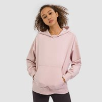Womens Clothing Hoodies Sweatshirts Hooded Sweater Women Yoga Mat Sports Fitness Long-sleeved Loose Pants Quick-drying Stretch Warm Top