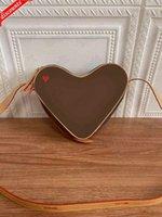 Coeur 디자이너 가방에 게임 붉은 심장 모양 동전 지갑 어깨 크로스 바디 작은 핸드백 파우치 크루즈 2021 가방 M57456