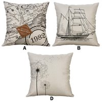 Interior Decorations Simple Linen Creative Lovely Pillow Cover Car Printed Pillowcase Fashion