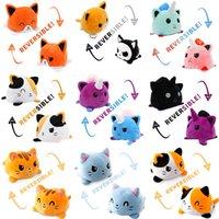 Creative Reversible Flip Cat плюшевые куклы фаршированные игрушки мягкие домашние аксессуары милые животные детские подарочные игрушки