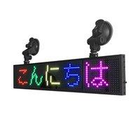 عرض 34 سنتيمتر 12 فولت rgb اللون wifi برمجة سيارة الصمام رسائل diy التمرير تتحرك سيارة سيارة تاكسي نافذة لوحة