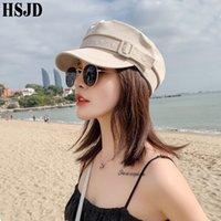 Ceinture octogonale plate casquette femme chapeau estivale printemps et d'été coton femelle chapeaux de marine pour femmes mâle femme rétro béret féminin