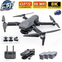 CEVENNESFE Drone 8K HD Caméra 5G WIFI 3-Axe Gimbal Eis Anti-Shake GPS FPV Quadcopter 30mins Temps de vol RC Hélicoptère 210915