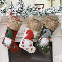 Party Supplies Knitted wool forester doll socks three-dimensional Christmas sockings gift bag