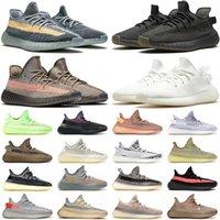 adidas yeezy yeezys boost 350 v2 kanye west En Kaliteli 2021 Kanye Koşu Ayakkabıları Ash Blue Cinder Taş Moda Erkek Kadın Krem Kuyruk Işık Oreo Bulut Beyaz Trainers Sneakers