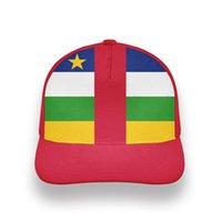 중앙 아프리카 청소년 학생 모자 무료 사용자 정의 이름 번호 CAF 모자 국가 플래그 Centrafricaine 프랑스어 인쇄 사진 야구 모자