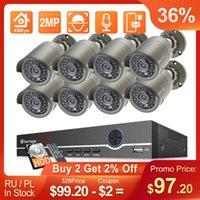 Techage H.265 8CH 2MP Poe Security Camera System 1080P NVR Kit P2P CCTV Видео наблюдение на открытом воздухе аудио запись IP Беспроводные комплекты