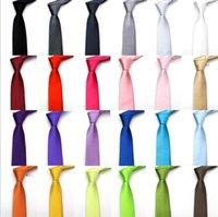 5 cm 24colors in stock mens regular sized neck ties imitate silk solid color plain wedding necktie lenth