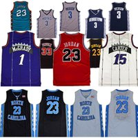 NCAA 1 McGrady North Carolina Basketball-Trikots mit Tar Fersen 23 Michael Vince 15 Carter Tracy 33 Pippen Iverson Jersey Tragen Sie Hemd Athletic Outdoor Bekleidung