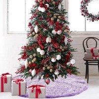 Christmas Decorations Long Snow Plush Tree Skirt Xmas Party Decor Base Floor Mat Cover