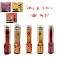 Bang Pro Max Commutateur jetable Vape 2 en 1 e Dispositif de cigarette 7ml Pods 2000 Puffs XXTRA DOUBLE PEN