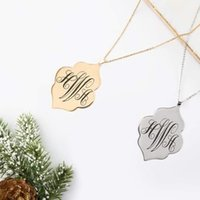 Fbmonogram Stainless Diamond Pendant Christmas gift Steel sterling silver fashion hip hop jewelry chains for women doll gold necklaces