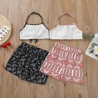 Infant Clothing Sets Girls Outfits Baby Clothes Kids Suits Wear Summer Cotton Lace Tank Tops Shorts Pants 2Pcs Bohemia 1-6Y B5612