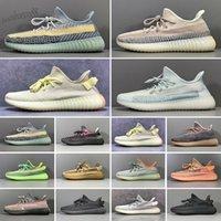 Adidas Yeezy Boost 350 V2 Kanye West Running shoes Static Refective congelato giallo scarpe di alta qualità del progettista Uomini Donne Trainer Sneakers Eur 36-47