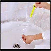 Organización de limpieza doméstica Drop Drop Entrega 2021 Cepillos de limpieza de alcantarillado Inicio Bañera de fregadero Bañera Drío Drío Cepillo de serpiente