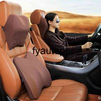 Breathable Car Neck Cushion 3D Massage Neck Headrest Pillow In The Car Memory Foam Lumbar Support Car Interior Accessories New