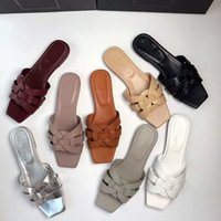 2021SS tribute muli sandali sandali pantofole in pelle liscia cassandra piatte donne scarpe da spiaggia sandalo sandalo flip flops pksport