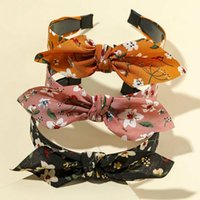 3pcs / 2pcs bandeau à floral imprimé bandeau de lapin bandes oreilles de lapin mode elastic Hoops Femmes Vintage cheveux accessoires fille