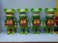 Hot 400% 28 cm La película clásica Bearbrick Bear Figuras populares juguete para coleccionistas Sé @ Rbrick Art Model Model Decoration Toys Regalo Q0422