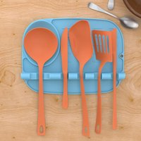 Dinnerware Sets Kitchen Heat Resistant Silicone Spoon Rest Cooking Utensil Spatula Holder Pot Clips Tools Accessories Gadgets
