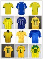الرجعية البرازيل 1994 1988 1998 2000 2002 2004 2004 لكرة القدم الفانيلة Romario Ronaldinho Rivaldo Kaka 94 98 00 02 06 البرازيل قميص كرة القدم