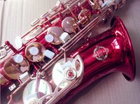 Quality saxophone Japan Suzuki Rose red brass Musical instrument professional playing Alto Sax and Case