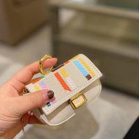 귀여운 미니 가방 동전 지갑 여자 여자 지갑 luxurys 디자이너 패션 캔버스 크로스 바디 백 패치 워크 컬러 HASP 작은 체인 핸드백 편지 하드웨어 11 * 8cm