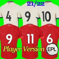 Versione del giocatore The Red Soccer Jersey 2021/2022 Uomo Adulto EPL The Secular Bird Home Camicia da calcio da calcio 21/22 Kid Kit Away Uniform uniforme da calcio numero di nome personalizzato