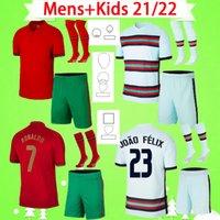 Portugal kit Adulto 2020 2021 de futebol RONALDO jerseys JOAO FELIX casa MENS afastado camisas de futebol terno 20 21 PORTUGAL GUEDES SETS Camisa de Futebol