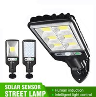 Super Bright Outdoor Solar Lights COB Street Light Wall Lamp with Human Body Induction Waterproof Material for Garden Terrace etc