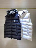 2022 가을 겨울 민소매 까마귀 자켓 남자 조끼 코튼 패딩 따뜻한 양털 줄 지어 망 코트 지퍼 카디건 .JIAJIA300
