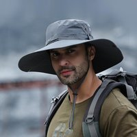 Wide Brim Hats Waterproof Bucket Hat For Male Summer Anti UV Sun Outdoor Men Hiking Fishing Caps Long Panama Beach