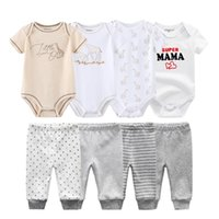 Summer Baby Bodysuits+Pants Outfits 0-12M Born Clothing Sets Boy Girl Unisex Cotton Clothes Roupa De