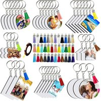 Hooks & Rails 181 Pieces Of Sublimation Blank,8 Shapes Blank Sets, Tassel Keychain Ring, Suitable For DIY Craftsmanship