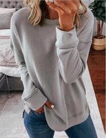 De Moda 2021 Women Tops Plus Size Long Sleeve Tee Oversized T Shirt Femme Solid Autumn Winter Clothes Blusas Mujer Women's T-Shirt 5XL