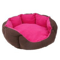 Kennels & Pens Waterproof Round Pet Bed For Cat Soft Products Plaid House Dog Pillow Cooling Cushion Washable Puppy