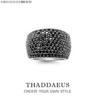 Cluster Rings Black Pave Cocktail Ring,Europe Style Fashion Good Jewerly For Women Men,2021 Spring Gift In 925 Sterling Silver,Super Deals