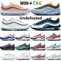 2021 أعلى جودة undefeated وسادة 97 og رجل المرأة الاحذية مصمم 97S أكوا الأزرق أورورا الأخضر الأسود متعدد الولايات المتحدة الأمريكية سكاي أحذية رياضية