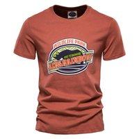 T-shirts Gelitayin Rhino Tryckt Tees Män Högkvalitativ Casual 100% Cotton Mens T Shirt Sommar Streetwear O-Neck For