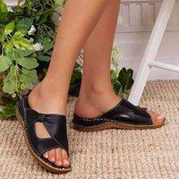 Brkwlyz mulher sandálias moda senhora plataforma casual toe toe mulheres sapatos de verão tamanho grande 43 210608 8ptr