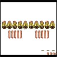 تنظيم التدبير المنزلي Home Garden20pcs 20pcs TIG Lens Bedby Gas Lens 17GL332 10N24S 3/32 كوليت كيت ل DB SR WP 17 18 26 لحام الشعلة اللحام سلبيات