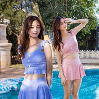 Women's Plaid Split 2021 New Conservative Skirt Sexy Little Fresh Hot Spring Swimsuit Womann7c4