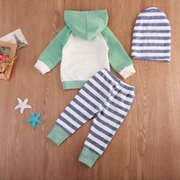 Clothing Sets 0-24Months Infant Baby Boys Girls Spring Autumn Sweatshirt Hoodies+Pants Outfits Set