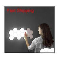 Wall Lamp Deco El Supplies Home Garden Bing Vision Touch Sensitive Panel Light Modular Hexagonal Led Magnetic Lights Painel Plafon Tec